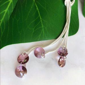 Callura Jewelry - 3 for $30! Callura Crystal Silver Lariat Necklace